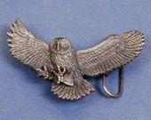 Owl Belt Buckle - Owl Buckle - Brass