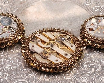Steampunk Necklace - Watch Movement Necklace - Continuum Necklace
