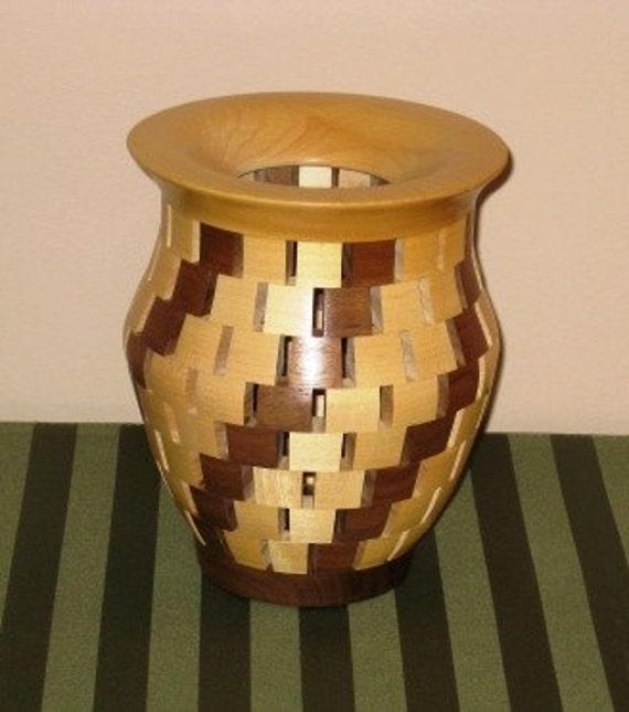 Segmented Vase of Maple and Walnut
