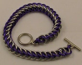 Purple and Silver Half Persian 3in1 Bracelet