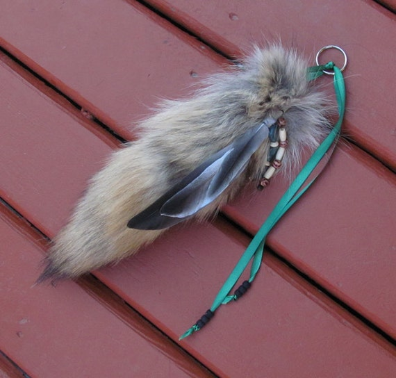 Beautiful Feather Decorated Coyote Dancing Tail