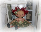 Raggedy Annie e-pattern Tillie Annie Cloth Doll pattern by Olive Grove Primitives