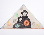 Monkeys Clay Wall Art Mixed Media Drawing - The Mission