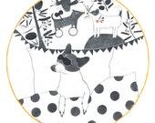 Original Pencil Drawing, Dog Dreaming, Morran Book, Animal  Illustrations, Book Illustration, Wall Art, Dog Lover Gifts, Surreal, Round Art