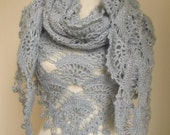 Christmas gift -Crochet Hand Silver Glitter GREY Shawl...wedding bridal shawl.knitting, fashion,shrug,stole, capelet,  scarflette,
