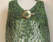 GREEN Multicolor Capelet ,green bolero ,green wrap,warm wrap