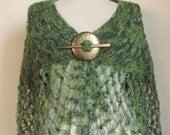 GREEN Multicolor Capelet ,green bolero ,green wrap,warm wrap
