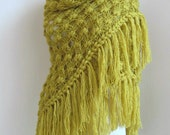Pistachio Crochet  shawl ..wedding bridal shawl.fashion,shrug,stole, capelet, cream, women, scarflette,