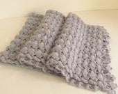 Christmas gift -Crochet Handmade GREY  Shawl,wedding bridal shawl. fashion,shrug,stole, capelet, women, scarflette,