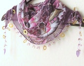 MIXED colorful, Traditional Turkish Oya  Scarf,authentic, romantic, elegant, fashion,weddings,bridal,vintage,rustic