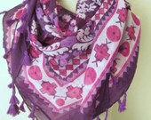 SQUARE scarf //  Tasseled scarf // Turkish scarf // Cotton  Scarf // %100 Cotton