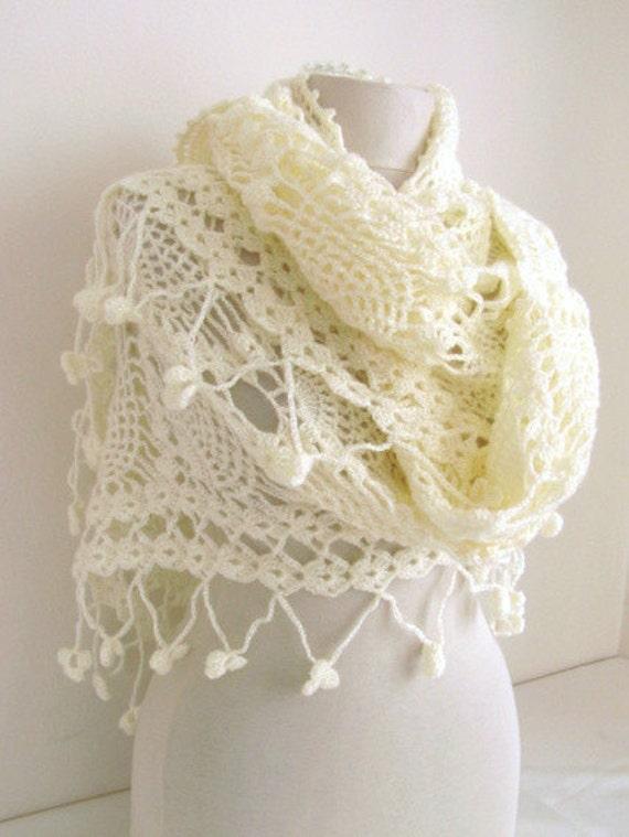 Cream shawl -Glimmers Bridal Mohair shaw l- Luxury elegant Shawl.