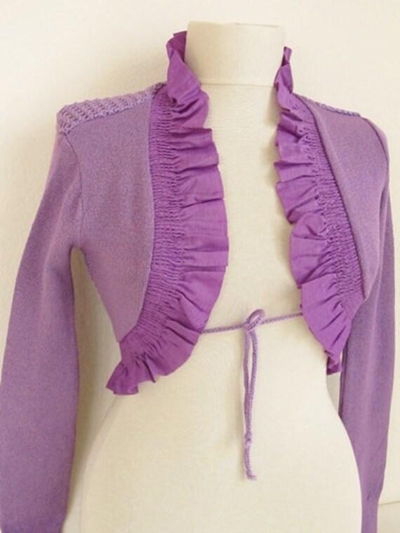 Christmas gift -Lavander Crochet  Shrug - Soft Elegant  Bridal Shrug Bolero