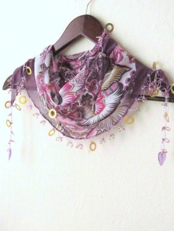 MIXED colorful, Traditional Turkish Oya  Scarf,authentic, romantic, elegant, fashion,weddings,bridal,vintage,rustic