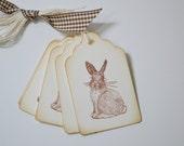 Handmade Gift Tags Sweet Bunny