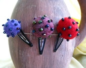 Hairclips 'Bugs' 3  pieces