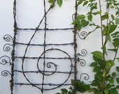 Lovely Lyrical Treble Cleft Barbed Wire  Garden Trellis