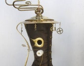 Whimsical Steampunk Inspired Boot Birdhouse
