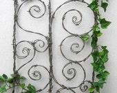 Beautiful Spirals Barbed Wire Trellis Garden Art