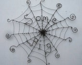 Charlotte's Web Inspired Barbed Wire Spider Web Sculpture Some Pig Made to Order