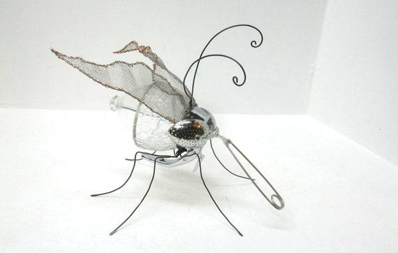Perplexing Pudgy Mosquito Creature Repurposed Sculpture