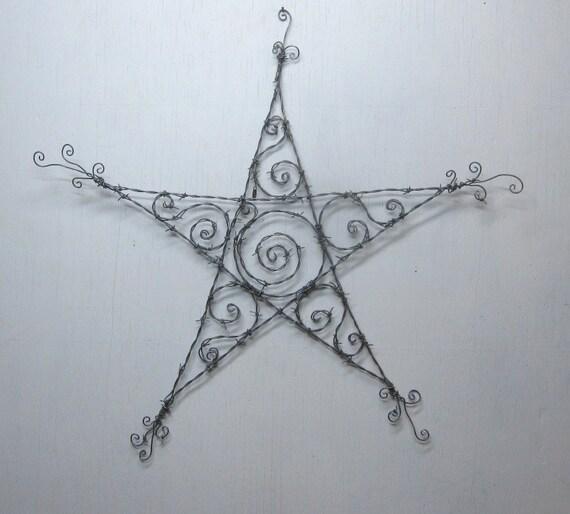 Shiny Spirals Barbed Wire Star Spring Garden Decoration
