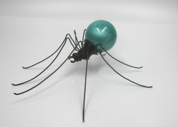 Beautiful Opaque Swirled Caribbean Blue Spider
