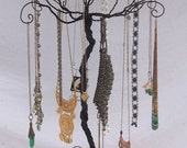 The original wire jewelry tree by claudineslimited on etsy for How to make a wire tree jewelry stand