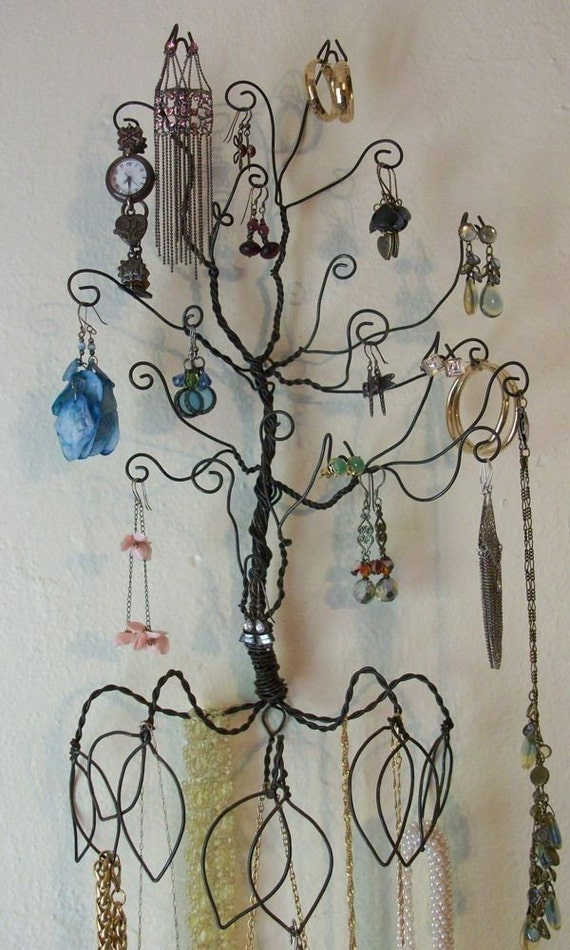 Wire Wall Mount Earring Necklace  Jewelry Tree Display PRE ORDER
