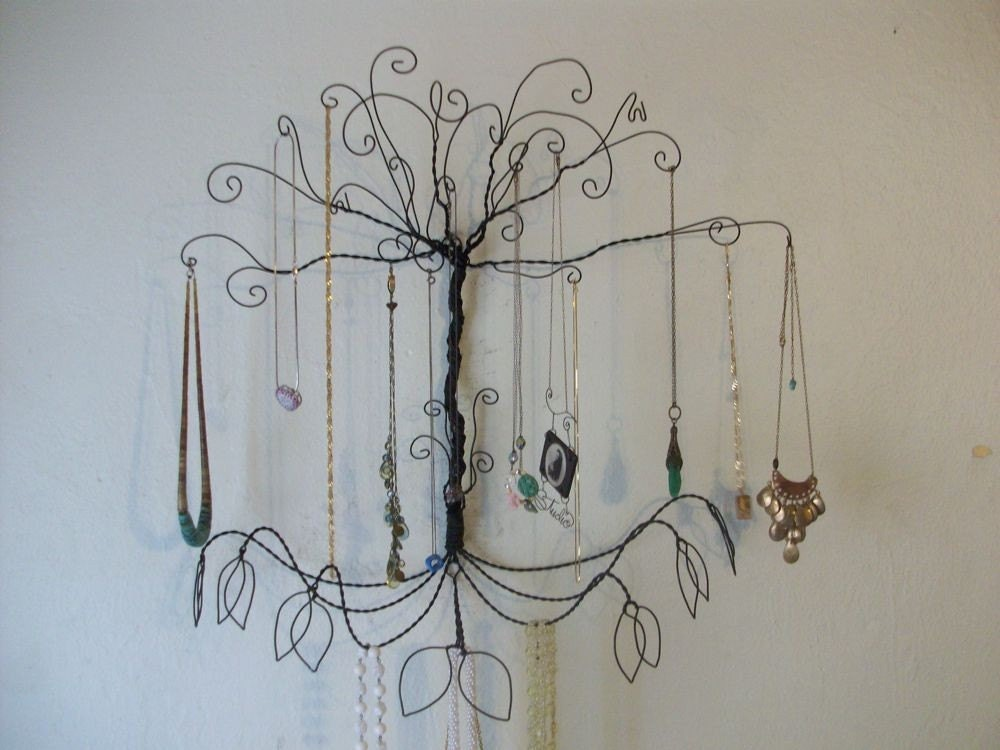 Jewelry tree display wire colossal wall mount all necklaces for How to make a wire tree jewelry stand