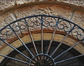 Israel Photograph - Jaffa Doorway Wrought Iron Stone Arch - Travel Photography - Architectural Detail