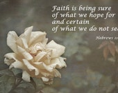 Hebrews 11-1 Custom Art - Photoverse Print - Fine Art Photography and Quote