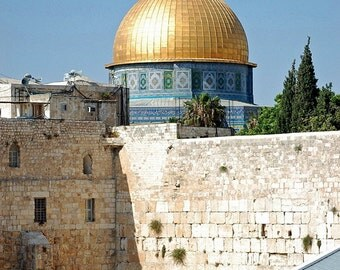 Western Wall and Dome of the Rock Fine Art Photograph - Israel Travel Photography - Jerusalem Photograph