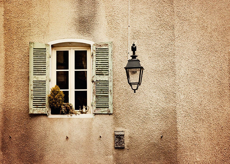 French Country Window France Travel Photography 5x7 Fine