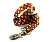 Polka Dots and Chocolate Dog Leash