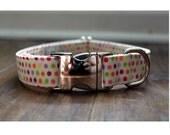 Candy Dots Fabric Dog Collar