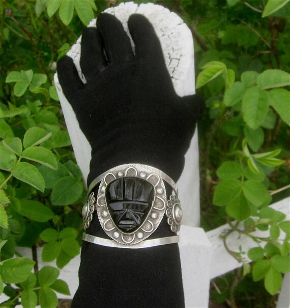 Vintage 1940's TAXCO Mexico Sterling Silver & Black Onyx RESERVED for Julianne Hall (LAW)