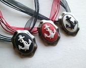 Anchors Aweigh // Rockabilly Pinup Nautical Lace Necklace // Choose your Favorite