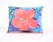 Tropical Redpink Hisbiscus Mini Pillow