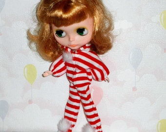 FOOTED PAJAMAS Stripes #1 Fun PJ's Blythe Stacie Licca