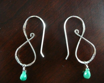 Infinite Song Earrings with Emerald Drops