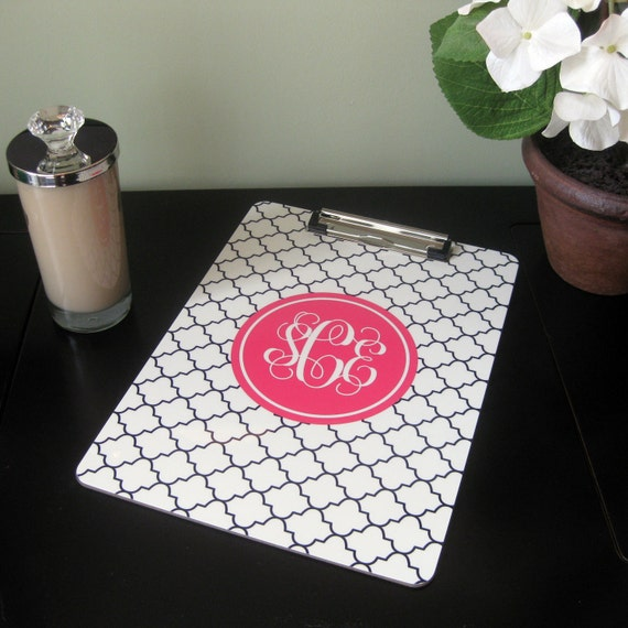 Personalized Clipboard - Reverse Clover - Design Your Own
