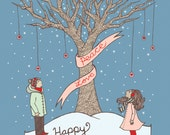 Holiday Tree Pack of 12 Greeting Cards