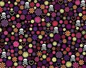 Love, Bones, and Flowers Notecard