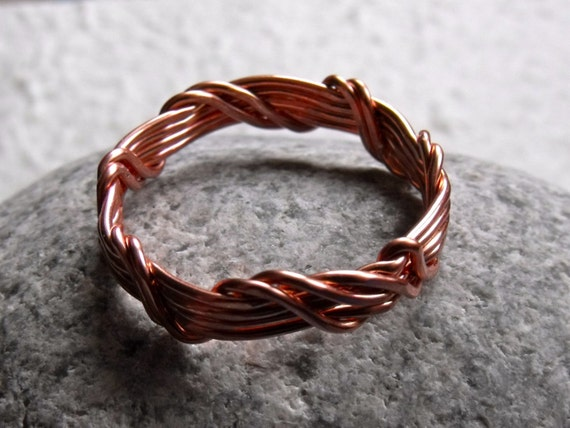 Men S Copper Wire Wrapped Ring