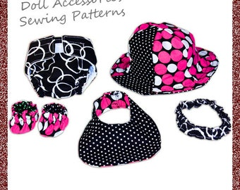 Baby Doll Accessory Sewing Pattern COMBO - INSTANT DOWNLOAD