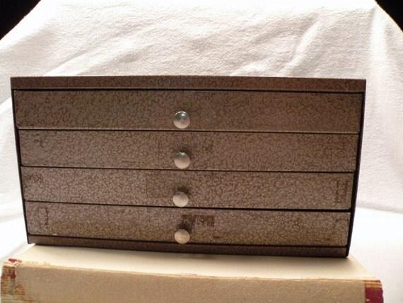 Rustic  Metal Storage cabinet, 4 drawer
