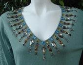NEFERTITI Crystal Embellished Sweater/Top