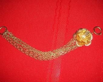 Gold Multi Chain Rose Bracelet