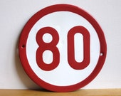 FOR THE HIPSTER- Vintage Graphic Red Road Sign